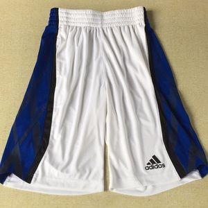 Men's Adidas Basketball Shorts Small White Blue